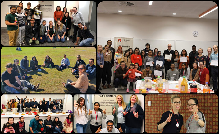 Collage of photos of different HDR mentoring events