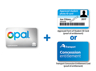 Opal concession card and required proof of entitlement